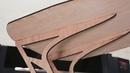 CO2 Laser Cut Wood Oak Side Table Boss Laser