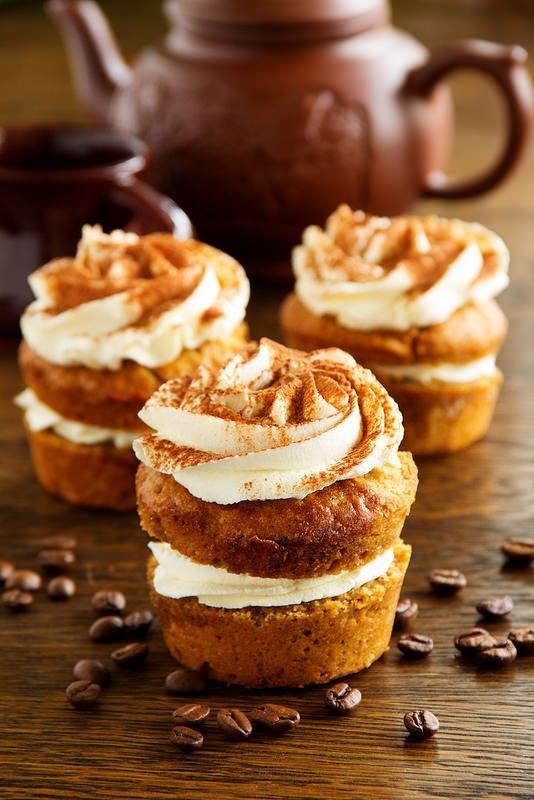 """Кексы """"Тирамису"""". Очень вкусные, нежные, пропитанные ароматным кофейным"""