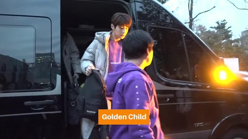 [VK] 181116 Golden Child по пути на Music Bank