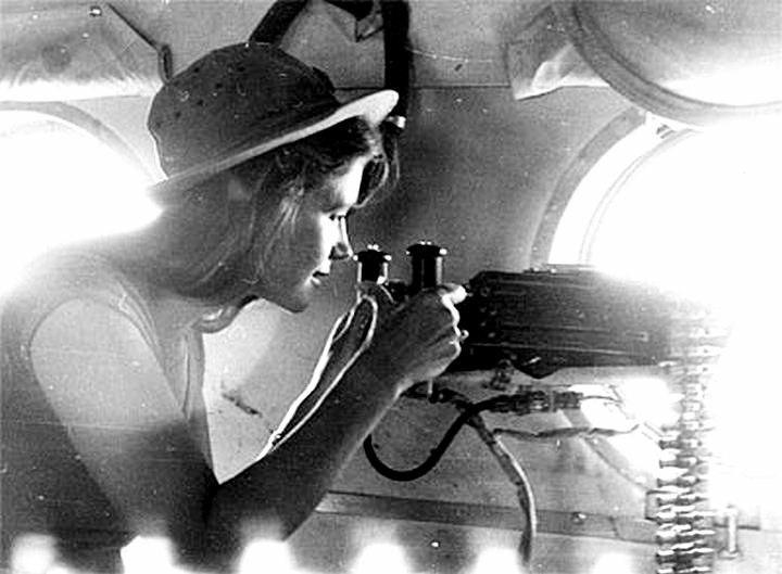 Ирина Алфёрова в командировке в Афганистане, 1985 год.