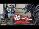 XRobots 3D Printed Alien Suit hybrid rigid rubber prints with a dual extruder Lulzbot TAZ