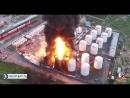 пожар на нефтебазе Киев снято коптером