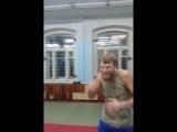 Тренировочный процесс- отработка боковых ударов