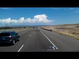 Interstate 25 Northbound leaving Albuquerque, New Mexico