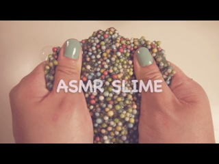 ASMR. 5 Satisfying Slimes (Crunchy, Fluffy, Slushy, Clear) No Talking