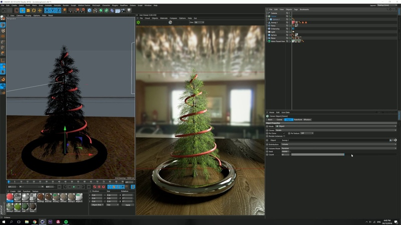 Christmas Process Timelapse in 4K