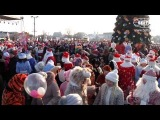 Театрализованное шествие Дедов Морозов и Снегурочек прошло в Минске