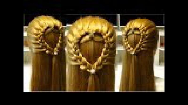 Прическа сердце из волос/Очень Легкая прическа в Школу💜Easy hairstyle to school