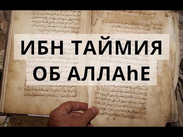 Ибн Таймия об Аллаhе. Свидетельство имама Аль-Андалусия