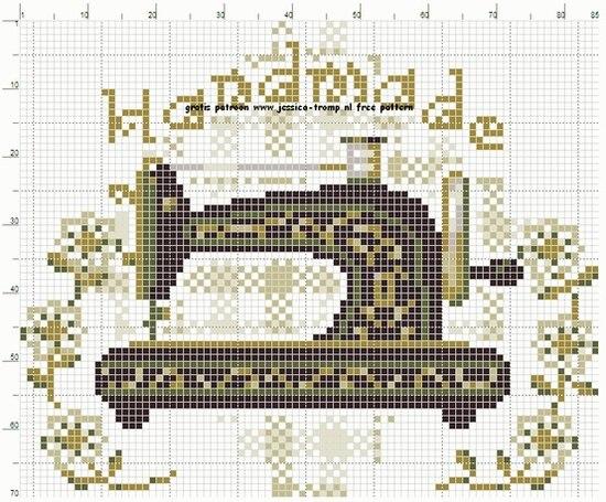 Схема вышивки швейной машинки.