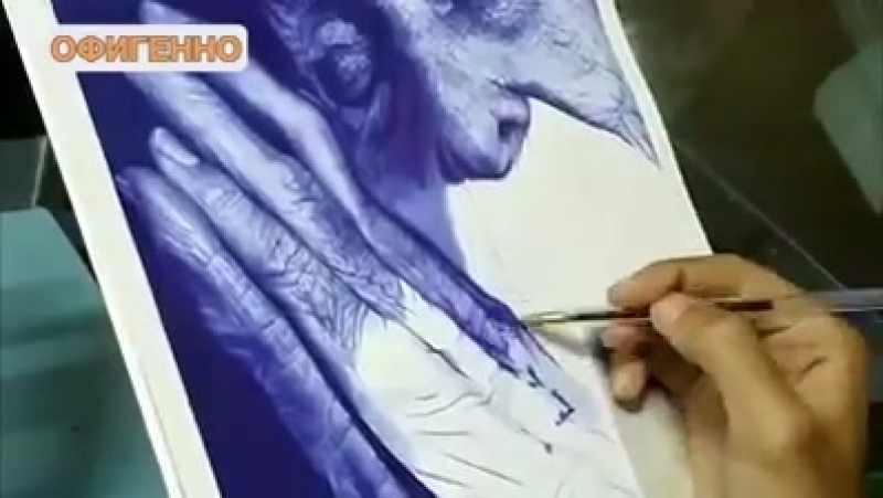 В жизни бы не поверил, что такое можно нарисовать обычной шариковой ручкой