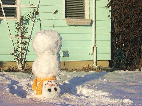 Хит сезона — снеговик наоборот!