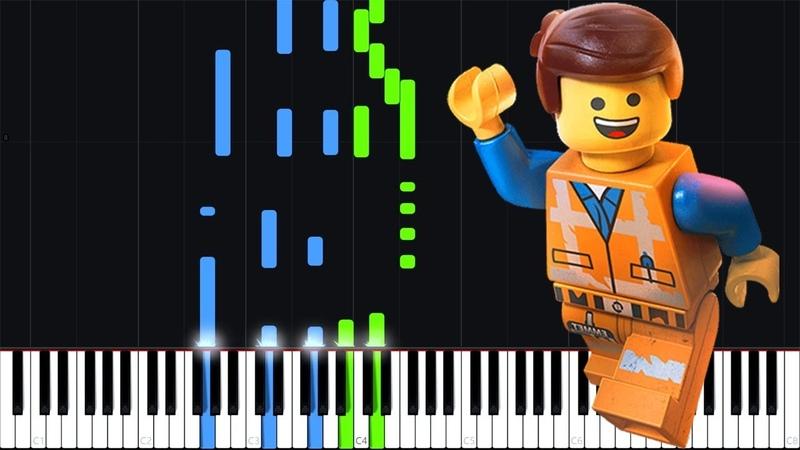 Everythings Not Awesome - The Lego Movie 2 [Piano Tutorial] (Synthesia) PianoPrinceOfAnime