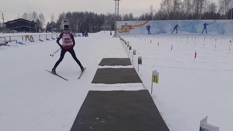 Тренировка сборной Рязанской области по биатлону