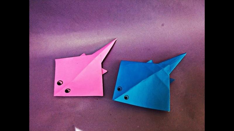 가오리(홍어) 종이접기 How to Make Easy Paper Origami Stingray