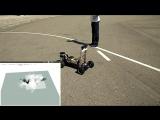 Прототип беспилотного автобуса - испытания на улице