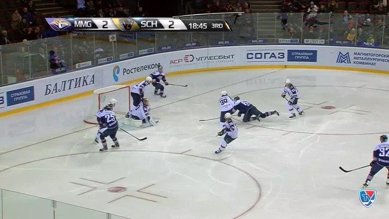 Моменты из матчей КХЛ сезона 14 15 Опасный момент Зарипов Данис Металлург Мг бросил в створ 17 11