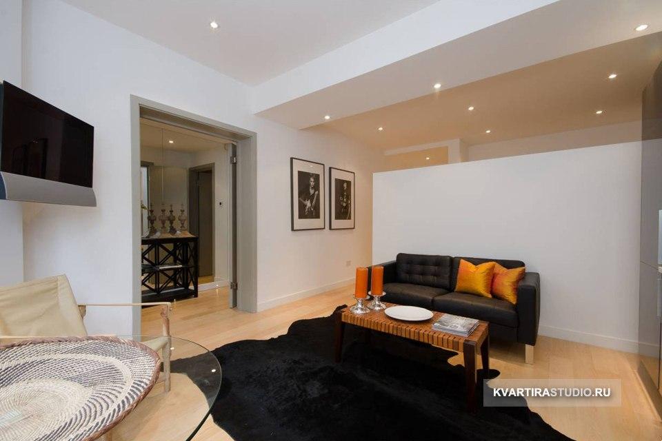 Просторная студия 45 м с отгороженной спальней в Лондоне / Великобритания - http://kvartirastudio.