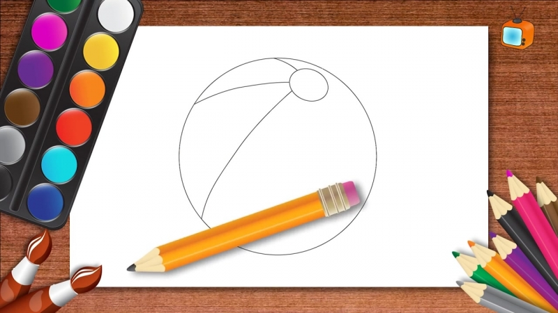 Учимся рисовать Развивающий мультик - рисуем мячик (convert-video-online.com)