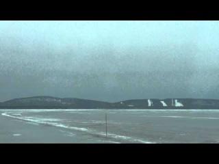 01 Ледовая дорога в Укко Коли через озеро Пиелинен