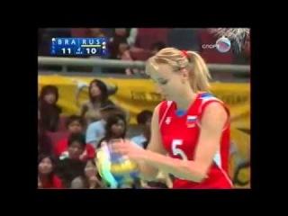 Чемпионат мира по волейболу 2006, Япония, финал, Россия-Бразилия, 3-2, 1 место, Гамова Екатерина