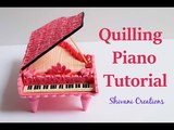 Quilled Piano Tutorial How to make Quilling Showpiece Miniature Paper Quilling Piano