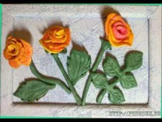 Соленое тесто мастер класс картины Розы