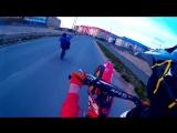 Pit bike stunt crew