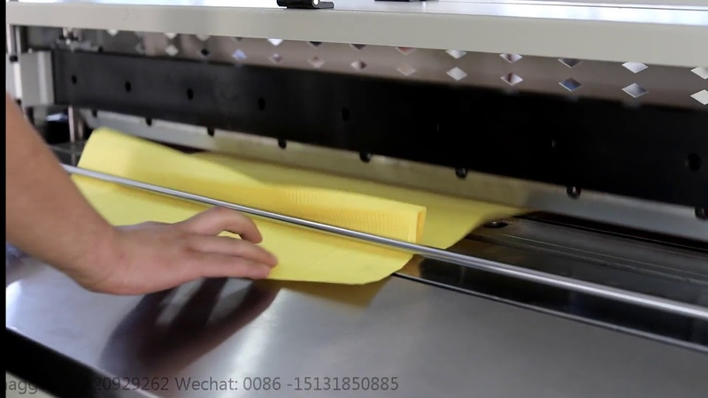 PLCZ55 1050 II pre-slitter/printer/pleating machine also called cutter/marker/folding machine