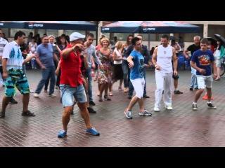 сальса флеш моб, открытый урок в Шереметьев парке с Владимиром Фроловым