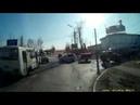 Момент ДТП ул Трактовая в 1300 23.10.2017 Иркутск