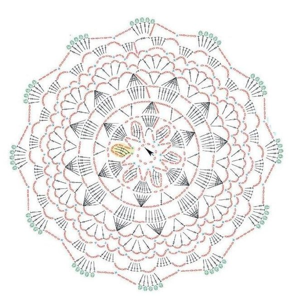 Схема вязания соединительного
