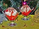 Творожно-сливочный десерт с ягодами