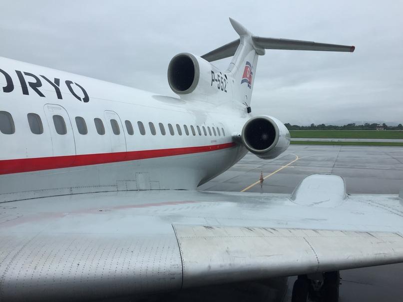 Отчет о путешествии в Северную Корею Наш самолет Ту-154Б