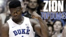 Zion Williamson's top 10 dunks College Basketball Highlights