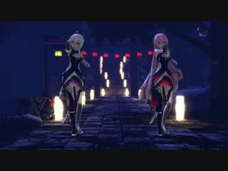 "【mmd】megurine luka and yowane haku"" in the evening people ages yoiyoi kokon"