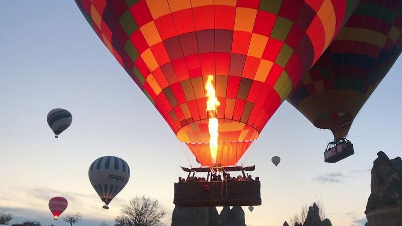 Каппадокия 2018. Пещерный город и воздушные шары над Долиной Любви на рассвете
