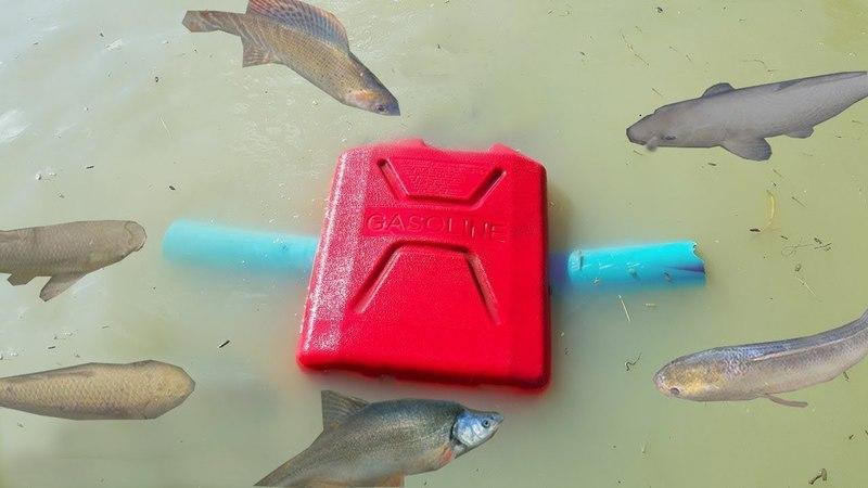 Маленькие гаджеты Удивительные притягивающие ловушки для рыбы с использованием бензиновых танков и т
