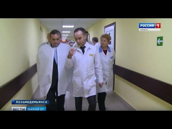 Глава Марий Эл побывал в новом сосудистом отделении Козьмодемьянской больницы
