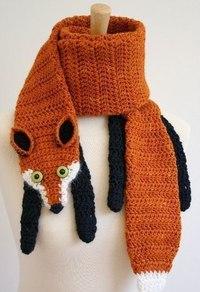 Схема вяязки шарф-лиса, вязаные наборы шапка шарф В ВИДЕ схема вязания шарфа-животное крючком, схема шарфа мордой для...