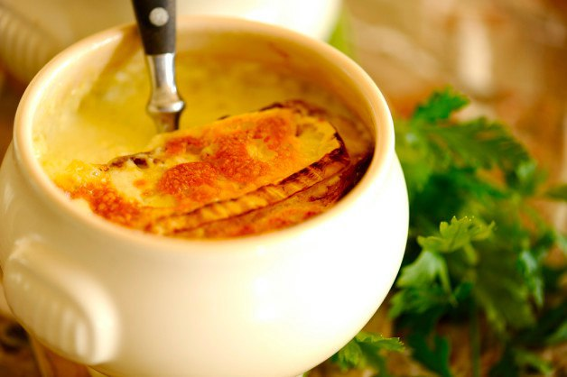 Суп с сыром Бри