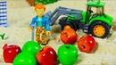 МУЛЬТИКИ МАШИНКИ.Трактор помогает убрать камни с огорода.Развивающие Мультики для Детей.
