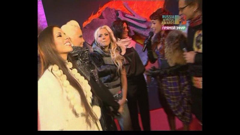 Блестящие на красной дорожке премии MTV RMA (28.11.2008)