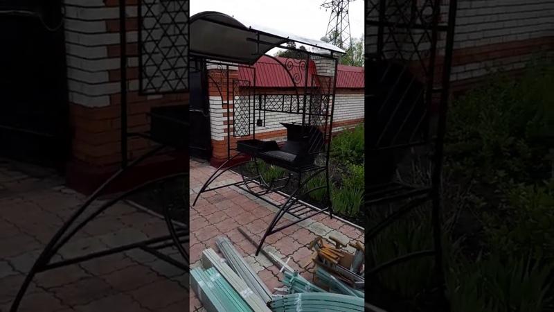 Наш продукт: Барбекю-Мангал под крышей БМК-2