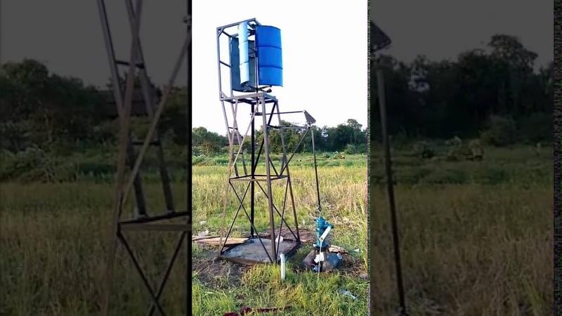 Kincir Angin Vertikal Untuk Pompa Air