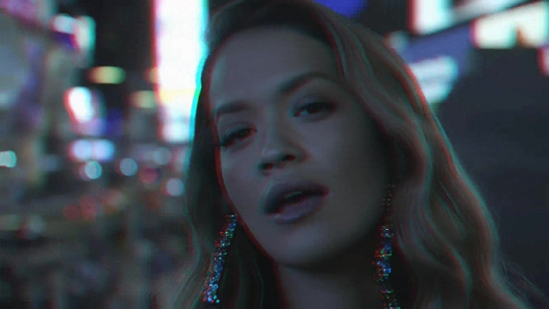 Rita Ora Anywhere anaglyph halftone self made