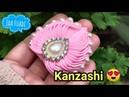 163 DIY HANDMADE Tutorial Bros dari pita How to Kanzashi Bros Candi Bros Spider
