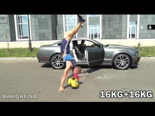 Kiki челлендж с гирями)