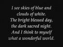 Louis Armstrong - What A Wonderful World (Lyrics)