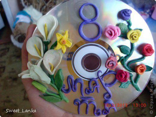 Поделки к 8 марта своими руками из дисков ватных своими руками